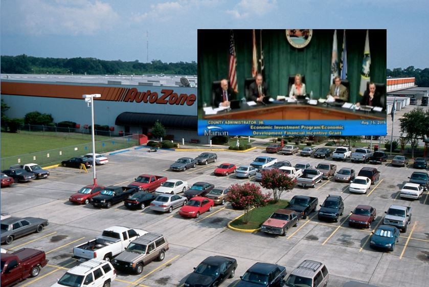 Autozone. ocala autozone, ocala post, marion county, corruption,