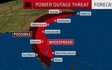 Hurricane Matthew scraping Florida's coast, 600,000 without power so far