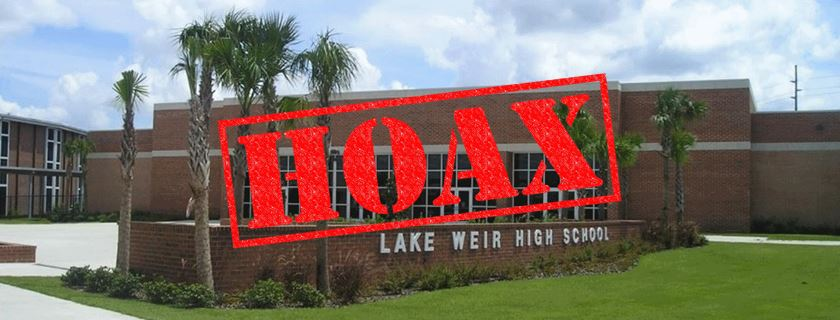 lake weir high school hoax, sink hole hoax, ocala post, ocala news