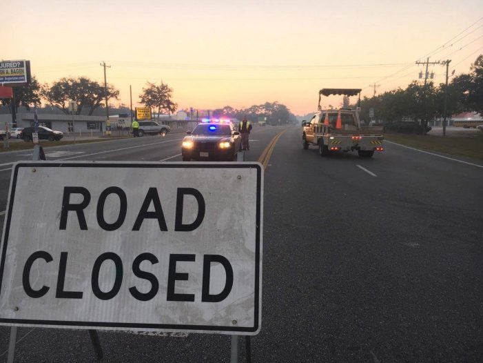 FHP: Road closures due to wildfire