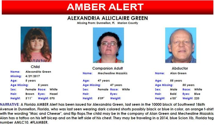 Amber Alert for 5-year-old Marion County girl