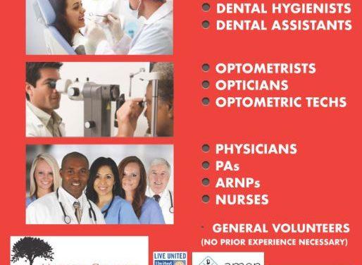 URGENT – Healthcare professionals and other volunteers needed