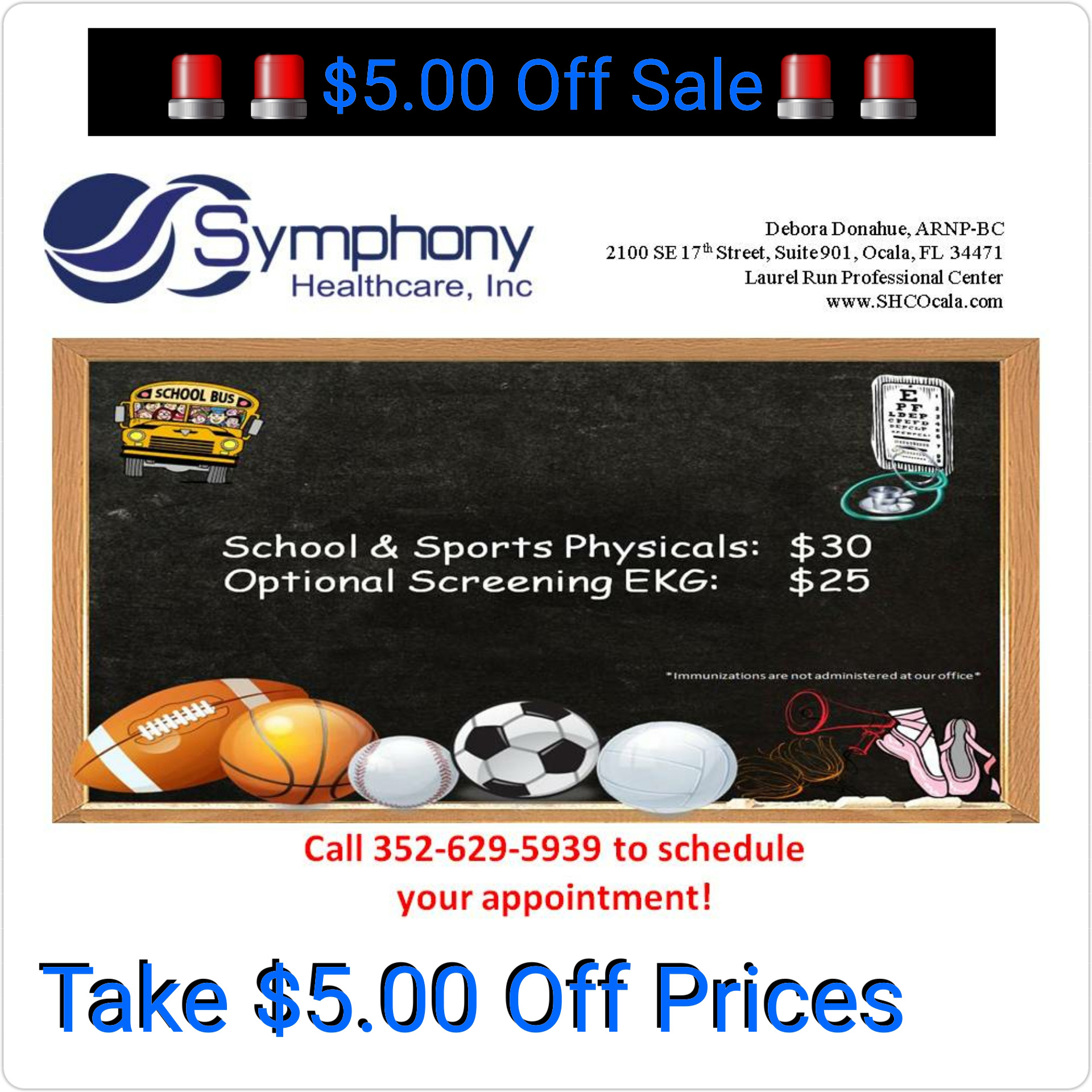 back to school, ocala news, coupon for physicals, symphony healthcare, ocala post