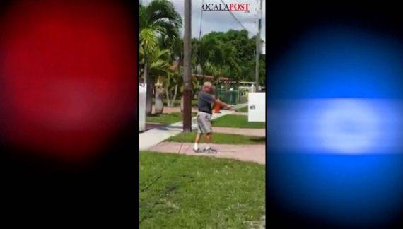 Man shoots AT&T trucks, fired shot at worker