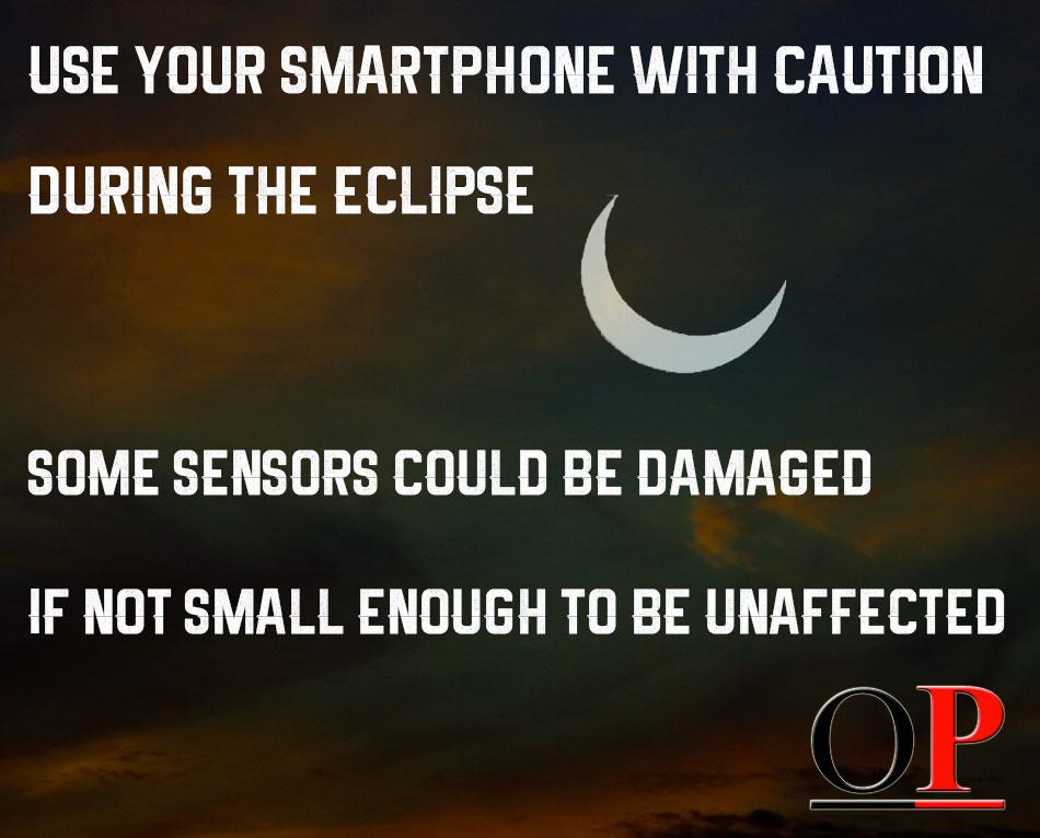 solar eclipse selfie mode, smartphone, record eclipse in selfie mode, rear facing camera, eclipse 2017
