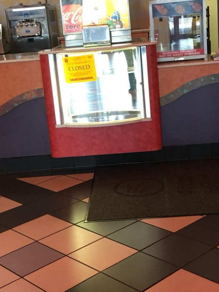 Hollywood 16 concession stand closed until further notice
