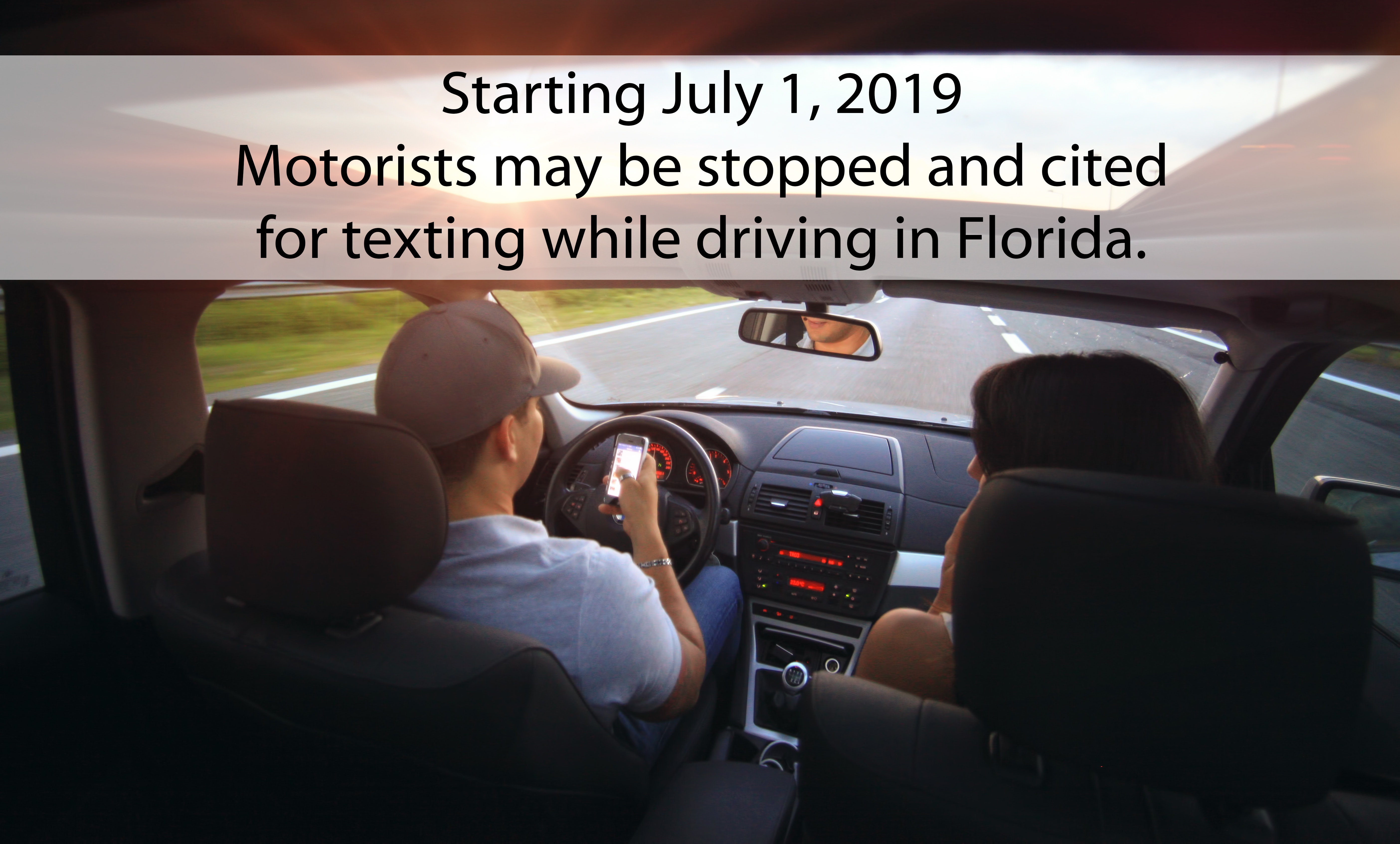july texting, ocala news, driving and texting, florida texting law