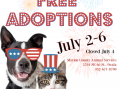 Free pet adoptions, four days only