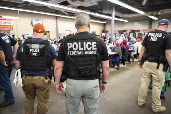 ICE raids businesses and detains hundreds of illegal immigrants