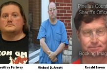 Ronald Brown, Michael D. Arnett, Geoffrey Portway, child porn