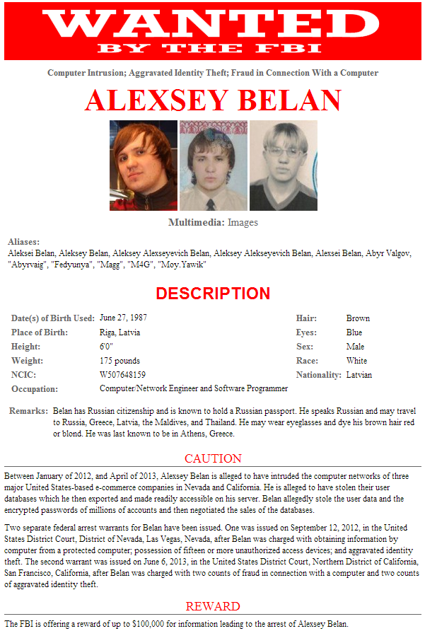 Five People Added To FBI Cyber Wanted List