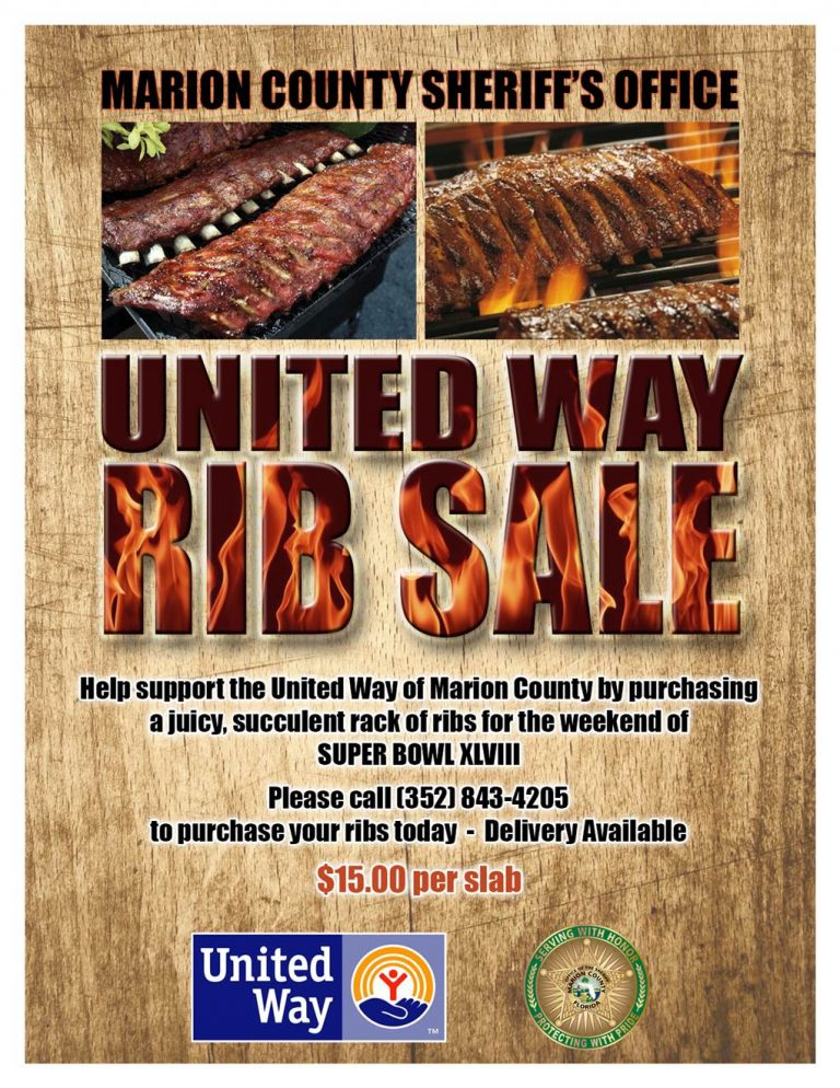 Marion County Sheriff's Office Rib Sale