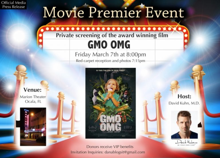 GMO OMG Movie Premier Event At The Marion Theater