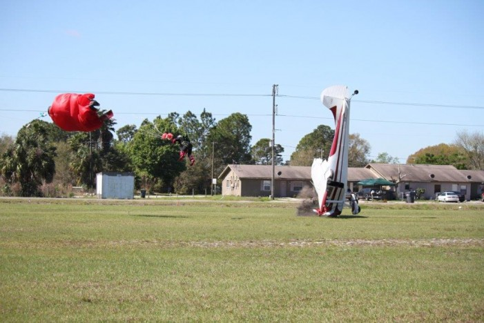 Cessna Plane Clips Skydiver