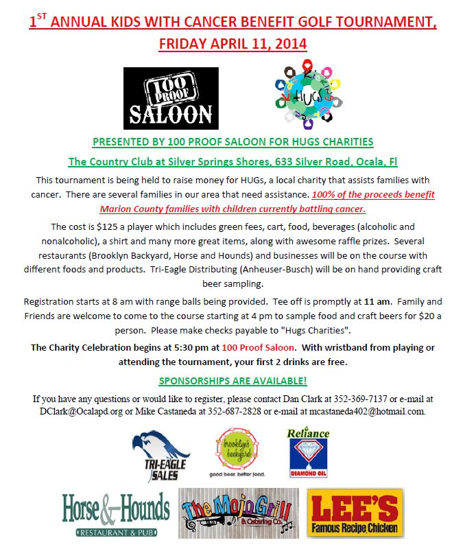 1st Annual Kids With Cancer Benefit Golf Tournament