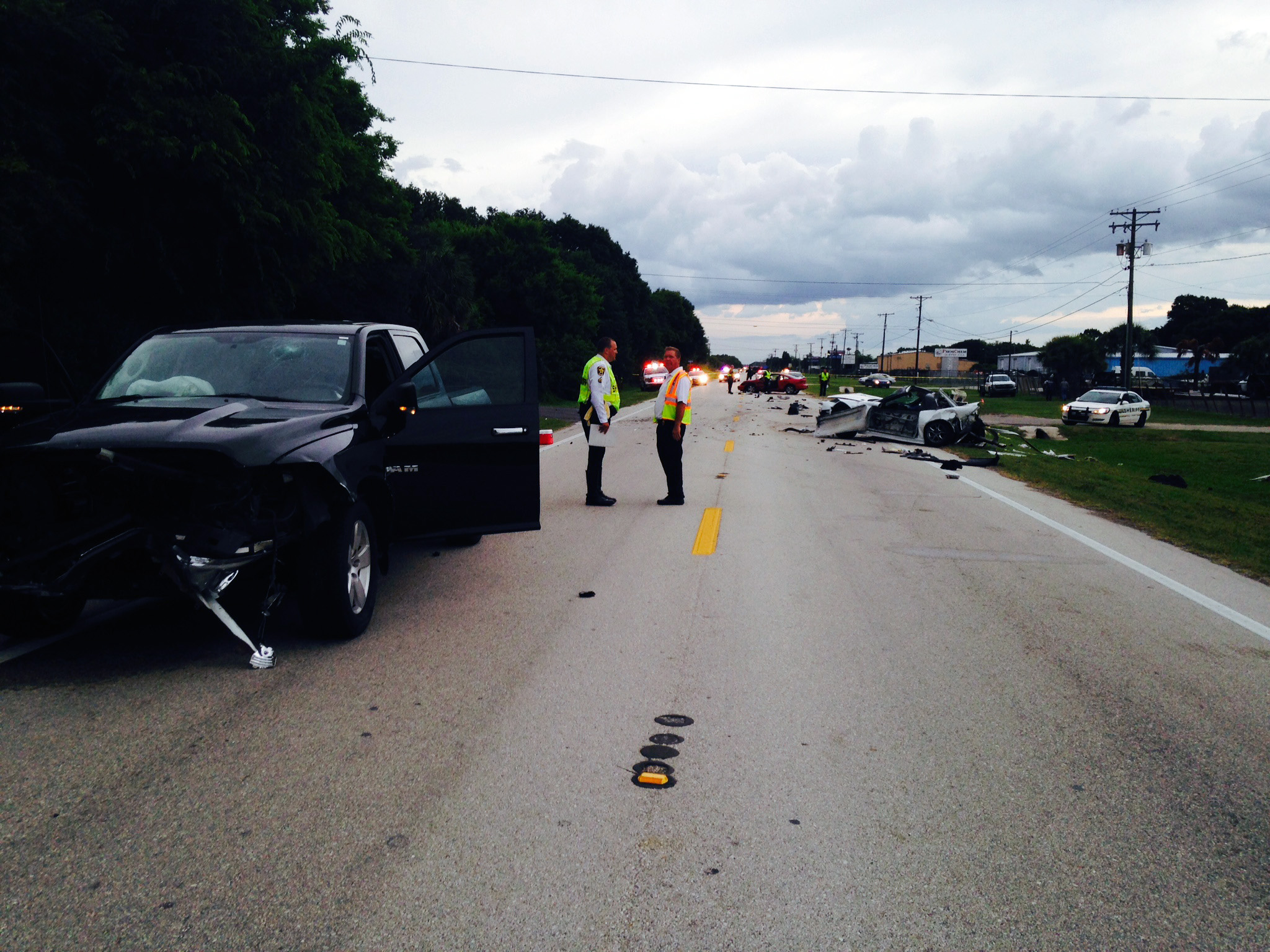 fatal crash polk county, corvette crash,