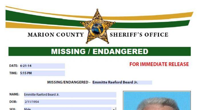 missing ocala man, Emmitte Raeford Beard Jr found dead in ocala