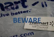 Walmart self checkout scam