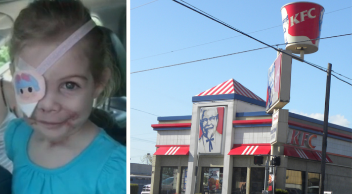 Victoria Mullins, KFC asks girl to leave