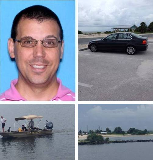 Todd P. Ginestra, his car, Citrus County Sheriff's and Fort Island Gulf Beach, Crystal River