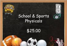 School and sports physicals, Symphony Healthcare