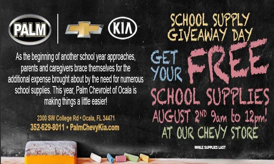 Free School Supplies, Ocala, back to school