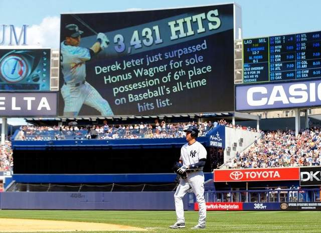 Jeter now sixth on hit list