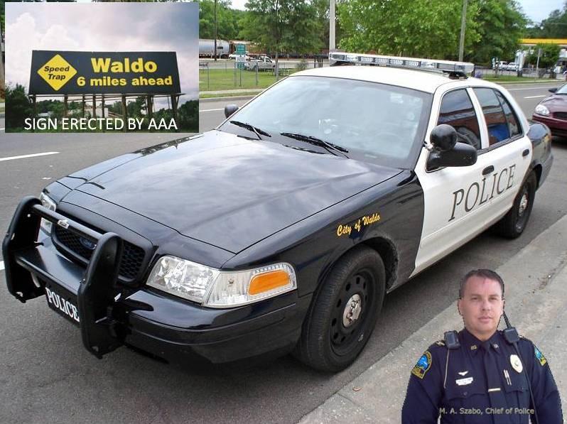 Waldo, Florida Police Department, speed trap, ocala news, marion county