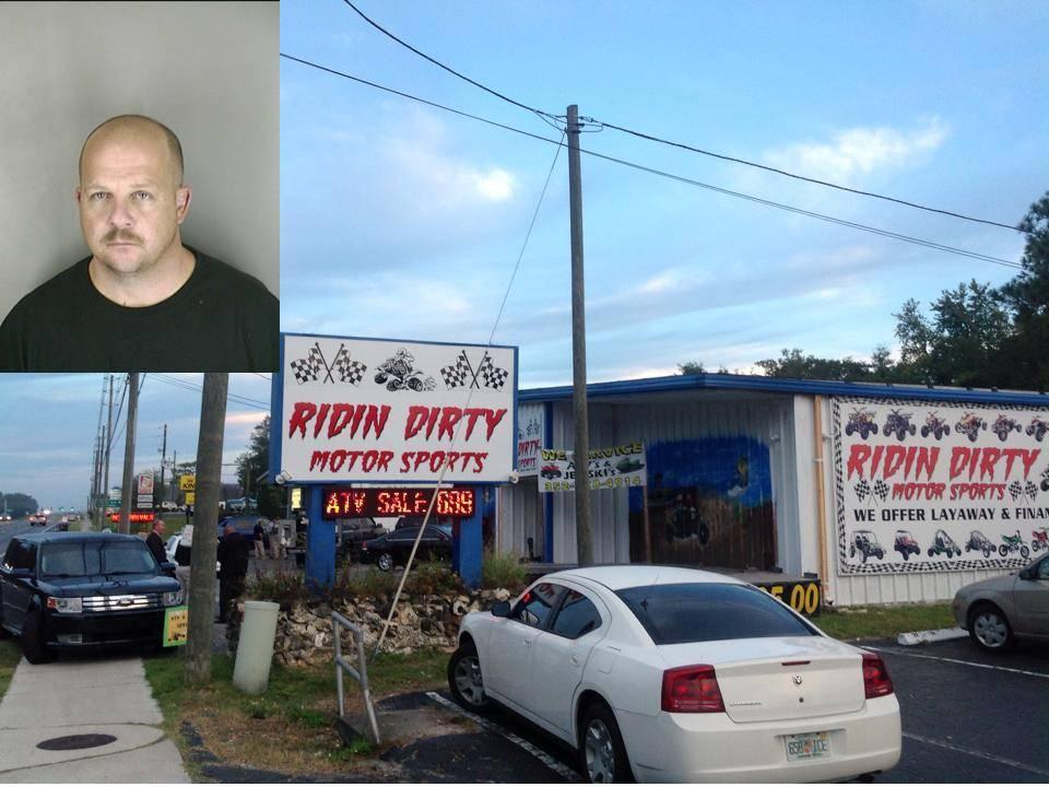 Michael Paul Watkins, owner of Ridin' Dirty Motor Sports, inverness news, citrus county news, ocala news,