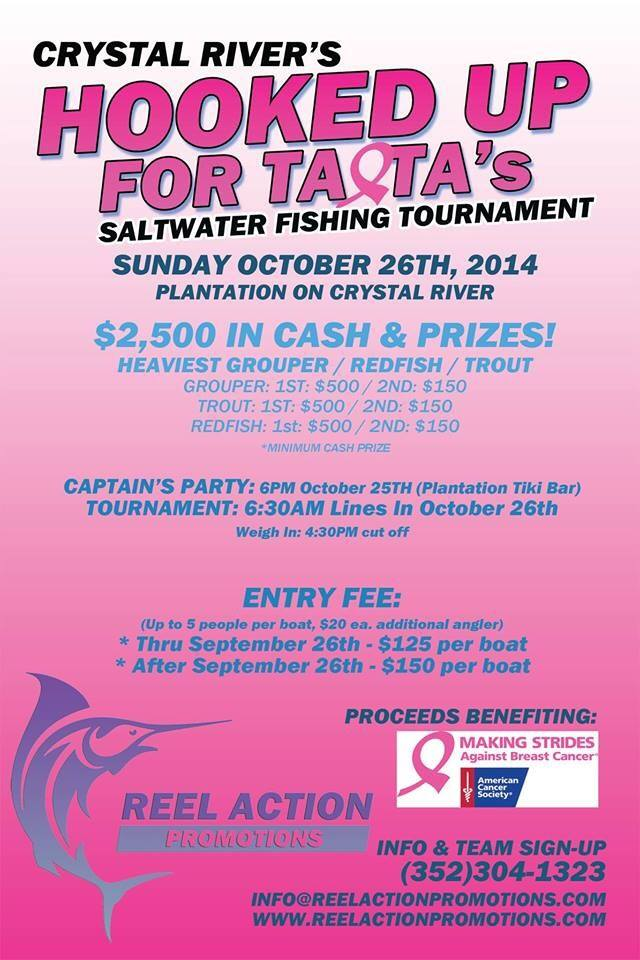 Hooked up for Ta-Ta's: Saltwater fishing tournament 2014