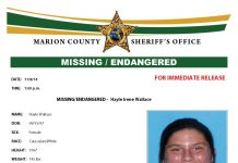 Missing Endangered Hayle Wallace, ocala news, marion county