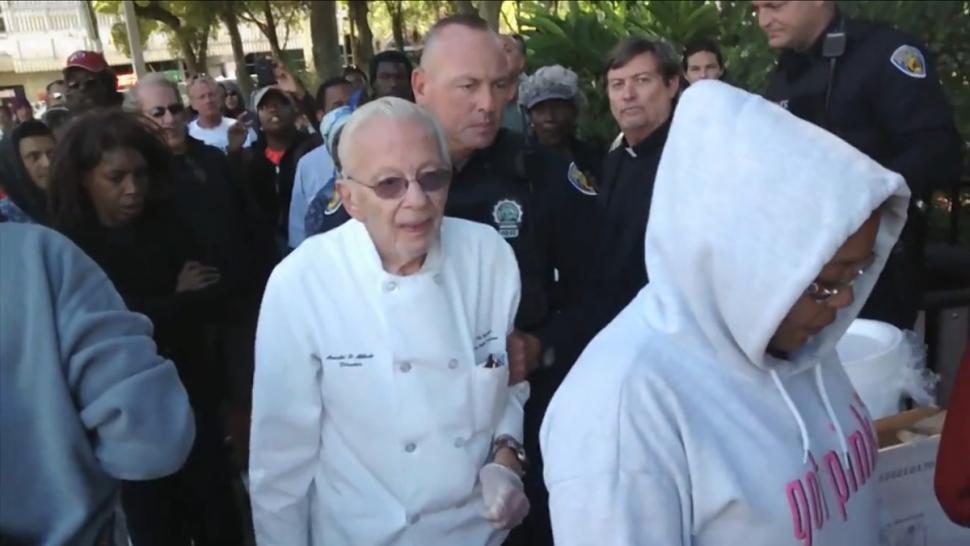 arrested for feedinghomeless, arnold abbott, ocala news,