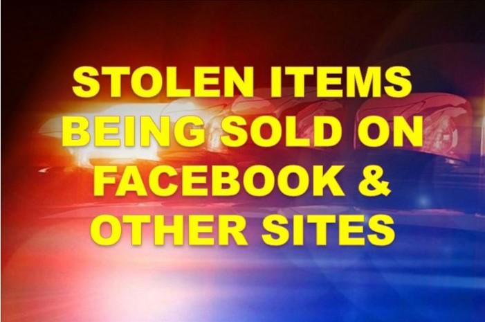 Stolen merchandise being sold through Facebook