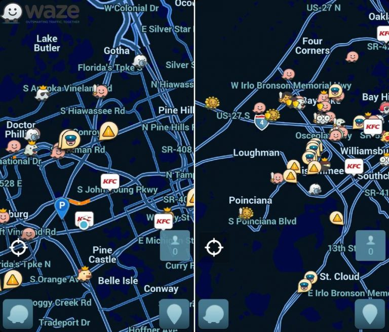 Police want a feature of the mobile App, Waze, disabled