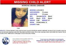 missing child, ocala news, polk county news, MORGAN ARIANA GIRDHARI