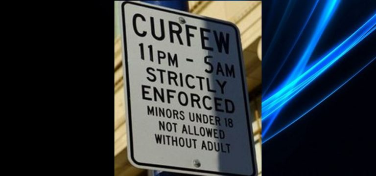 Curfew warning: school is out; keep minors off the street after dark