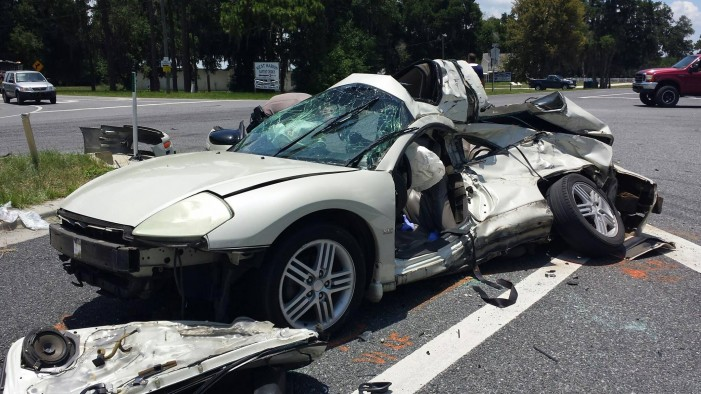 2-vehicle crash with serious injuries