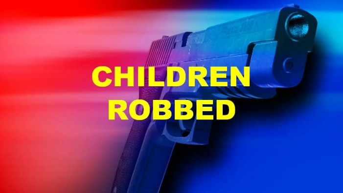 Two children robbed at gunpoint
