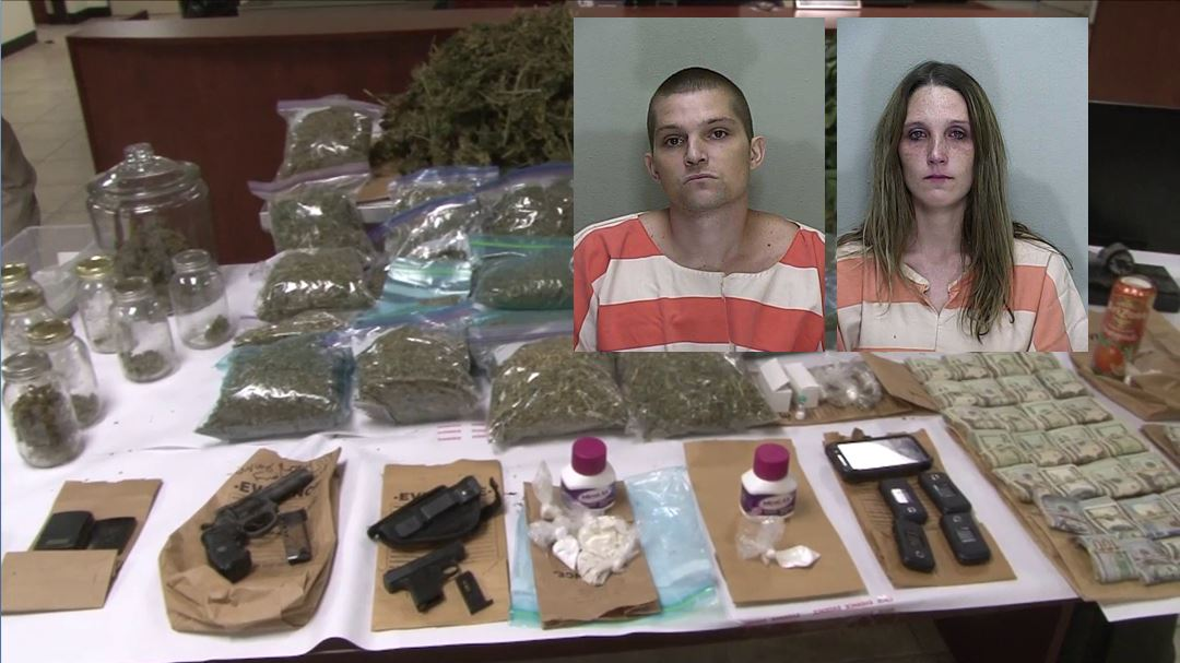 drug bust, heroin and cocaine, ocala news, marion county, drugs, weapons,