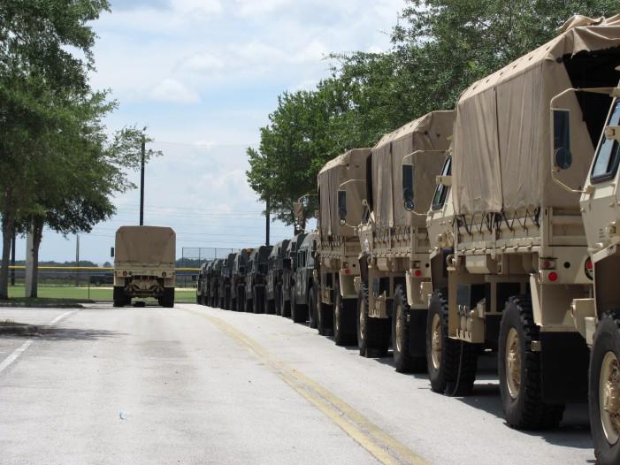 Military occupy Ocala by the hundreds