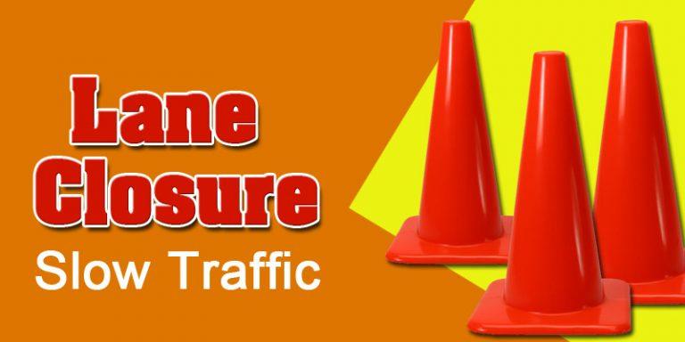Lane closure alert