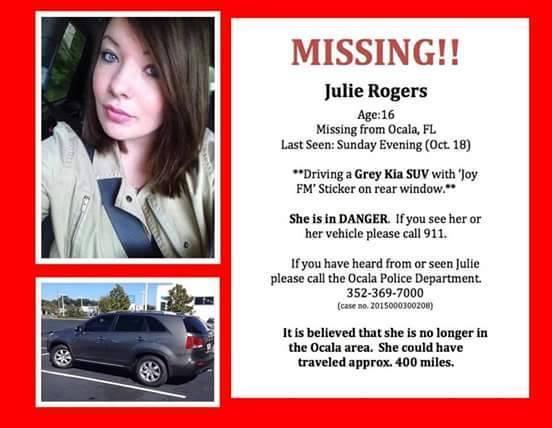 Julie Rogers Missing, ocala news, missing, marion county news, op, ocala post,