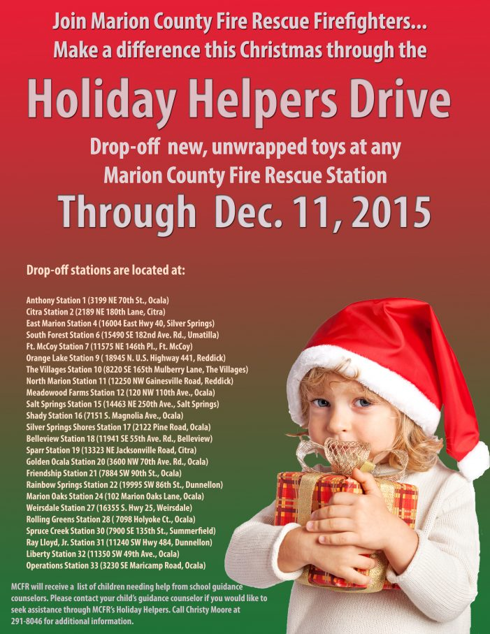 Firefighters host annual Holiday Helpers Drive
