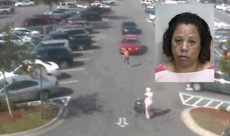 Video: Purse snatching in Walmart parking lot