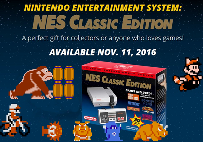 NES mini, mini NES, nintendo, preorder, retro games,