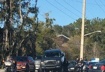 ocala news, road rage, ocala post, car crash, truck drives up on car