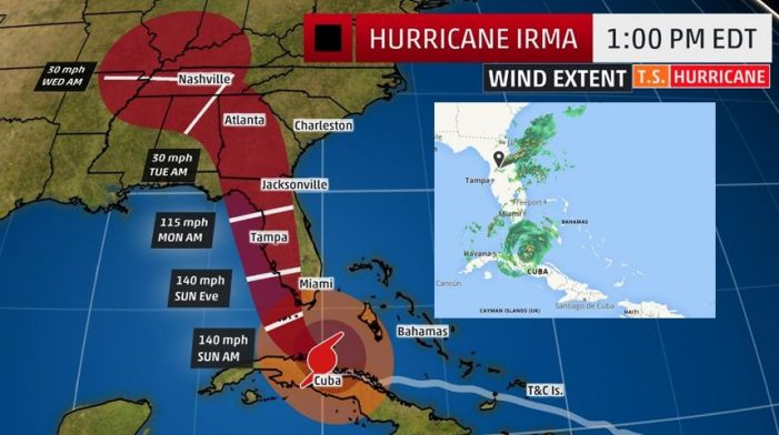 Hurricane warning for Marion County, flood watch, concealed carry information