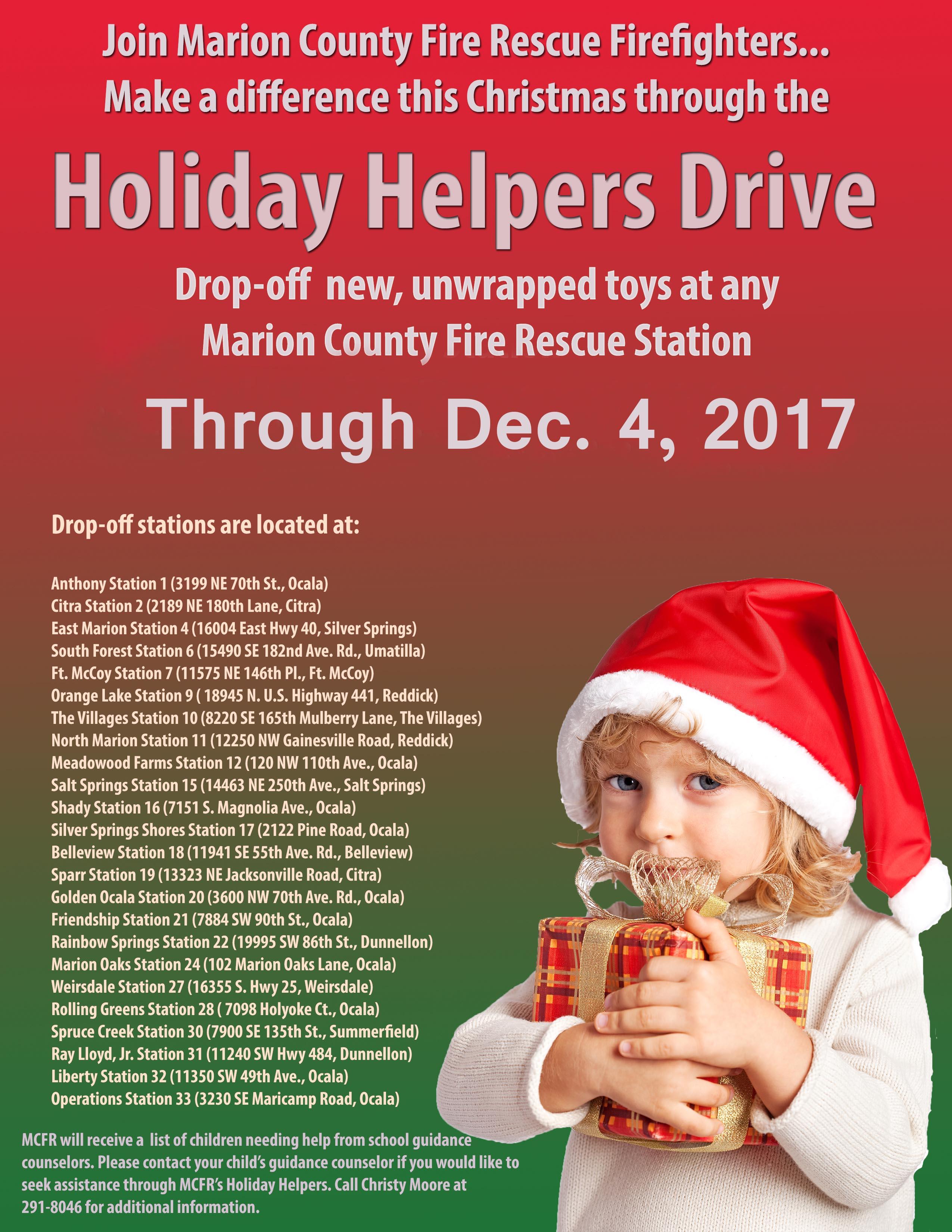 Holiday Helpers Drive 2017, christmas, ocala news, ocala post