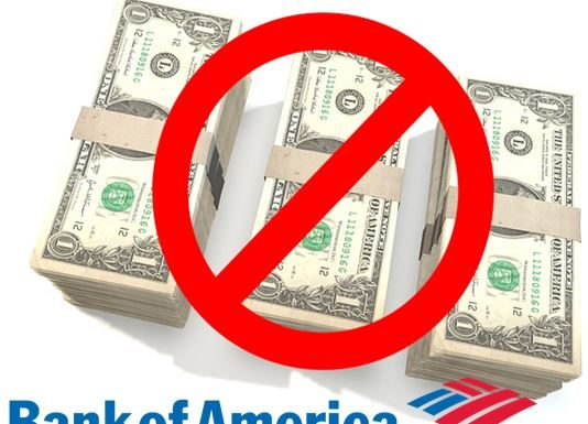 bank of america, cash deposits