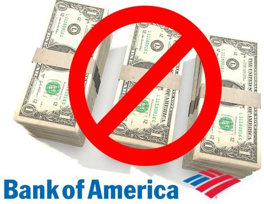 bank of america, cash deposits